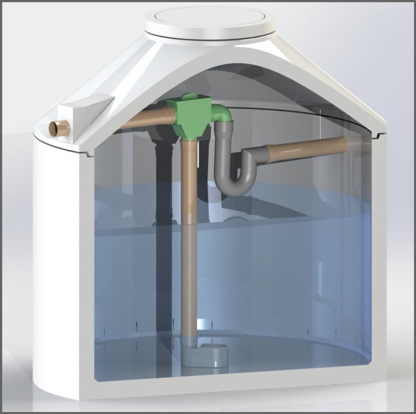 Regenwasserzisterne mit Evo Integral Combi Inox - Regenwasser nutzen