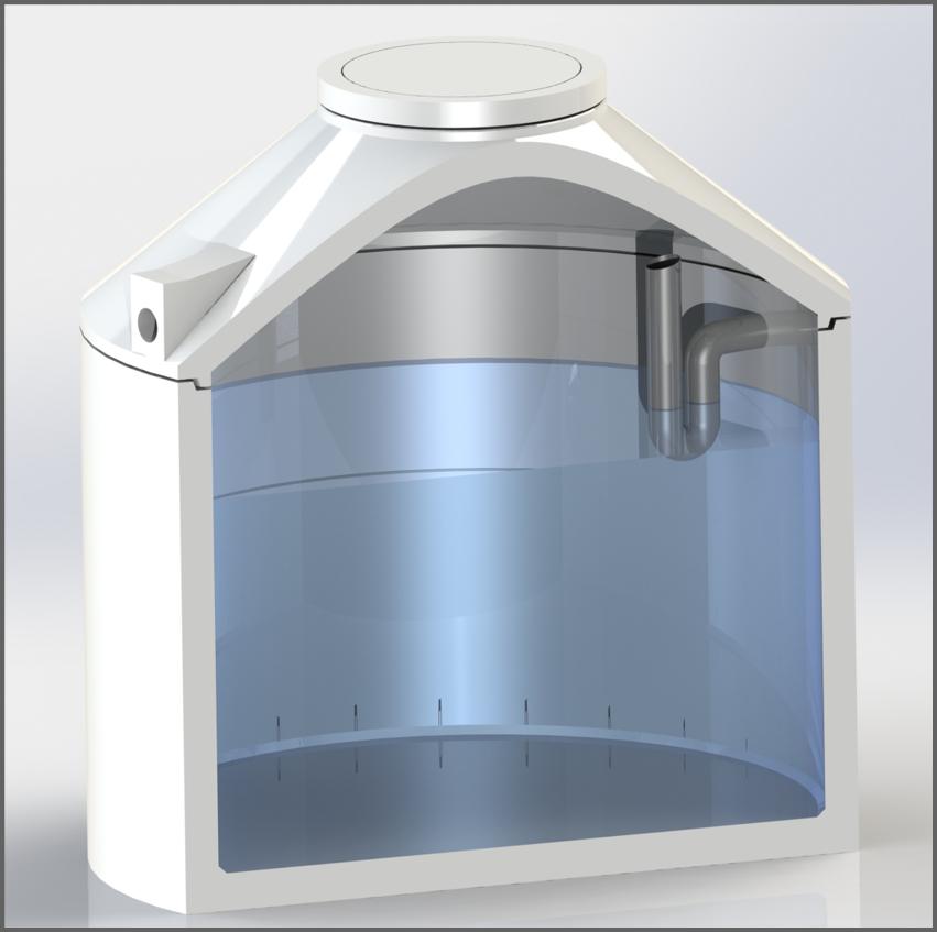Regenwasserzisterne mit Siphon - Regenwasser nutzen