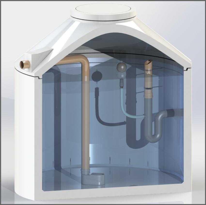 Regenwasserzisterne ohne Filter mit Retentionsdrossel - Regenwasser nutzen